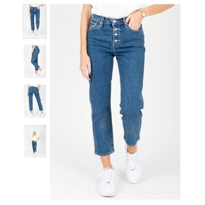 Levi's Premium Wedgie High Rise Straight Jeans